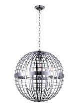 Crystal World 9974P22-5-601 - 5 Light Chrome  Chandelier from our Niya collection