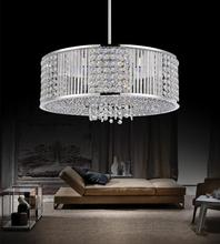 Crystal World QS8387P16C-R - 6 Light  Chandelier with Chrome finish