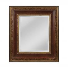 Mirror Masters (Yellow) MW4015A-0036 - O'Reiley English Pub Style Mirror In Aged Walnut And Roman Gold - Small