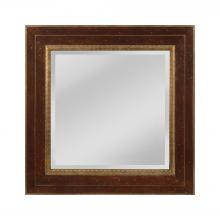 Mirror Masters (Yellow) MW4053C-0036 - Darcey Wood Frame Mirror In Walnut And Roman Gold - Small