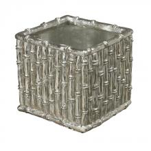 Sterling Industries 112-1122 - Silver Bamboo-Bamboo Planter