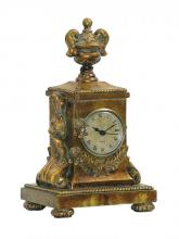 Sterling Industries 91-1548 - Barcelona Mantle Clock In Brown And Gold
