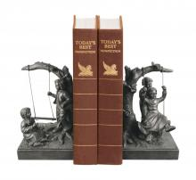 Sterling Industries 93-7451 - Sterling Pair Of Boy And Girl On Swing Book Ends