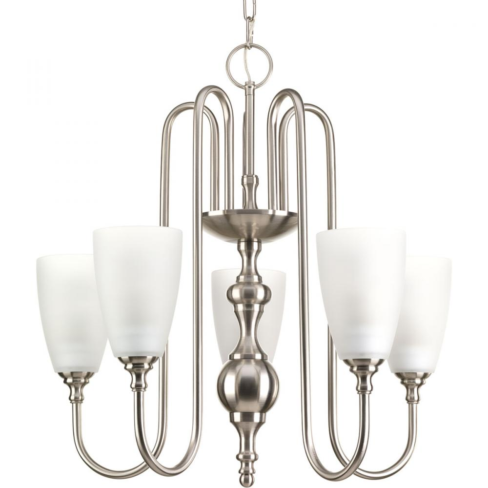 5-Lt.Chandelier with Etched glass