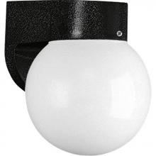 Progress P5813-31 - One Light Black White Acrylic Diffuser Glass Outdoor Wall Light