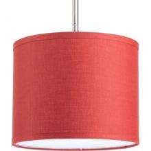 "Progress P8828-39 - 10"" drum shade modular pendant system in crimson. Must use with P5101 or P5198."