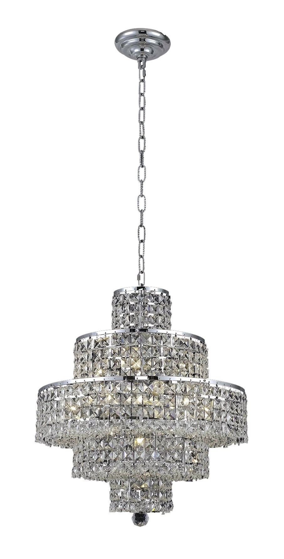 2039 Maxime Collection Chandelier D:20in H:21in Lt:13 Chrome Finish (Elegant Cut Crystals)