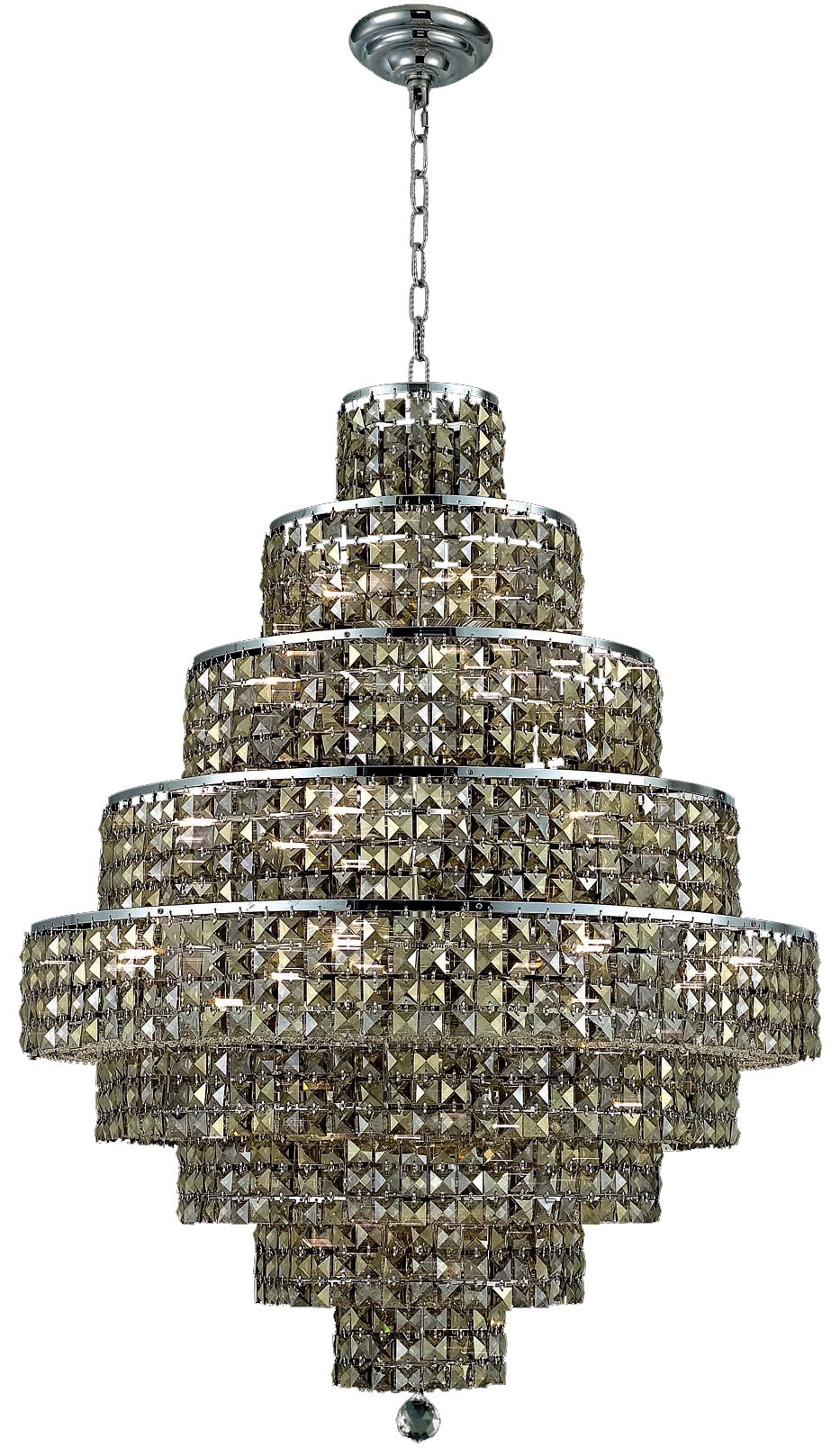 2039 Maxime Collection Chandelier D:30in H:41in Lt:20 Chrome Finish (Swarovski® Elements Crystals)
