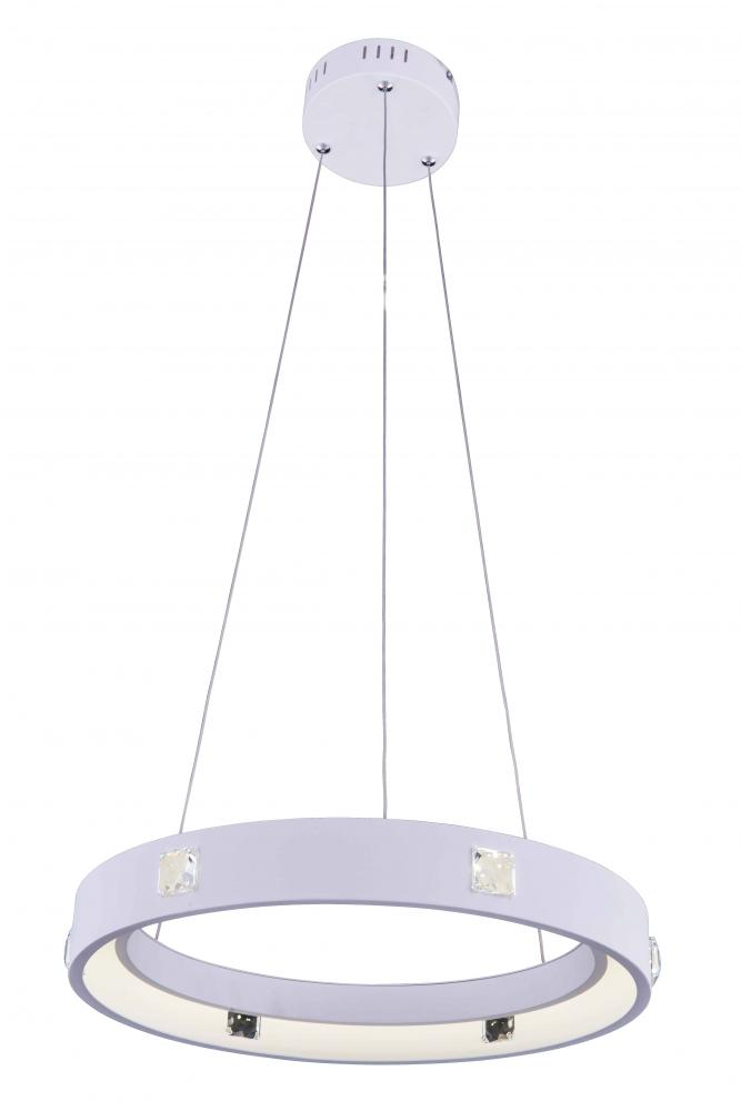 2096 Infinity Collection Hanging Fixture Fixture D18in H2.5in Lt:275(LED) White Finish (Royal Cut Cr