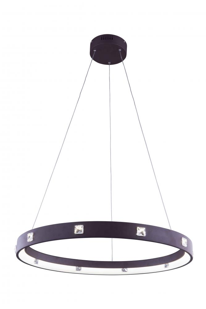 2096 Infinity Collection Hanging Fixture Fixture D29.5in H2.5in Lt:500(LED) Brown Finish (Royal Cut