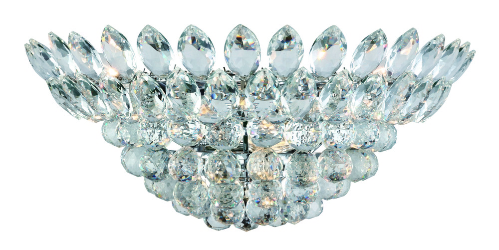 3002 Vesper Collection Wall Sconce D:20in H:9.6in E:11in Lt:4 Chrome&Clear Finish (Royal Cut Crystal