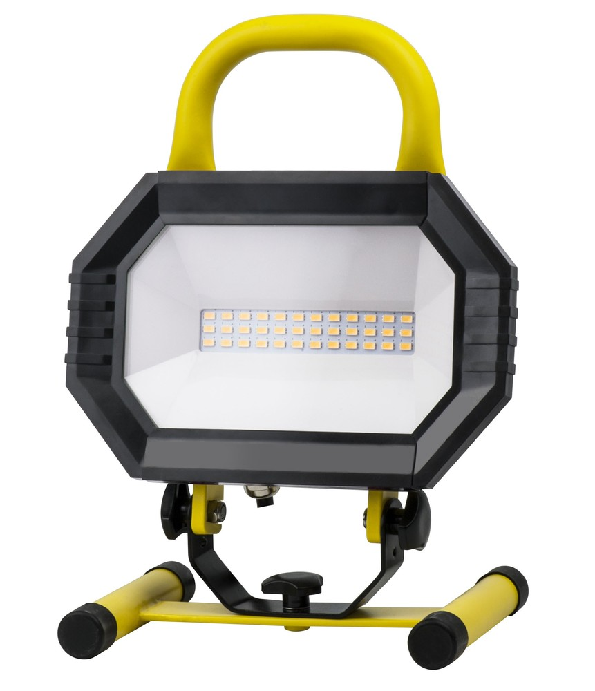 LED PORTABLE WORK LIGHT, 4000K, 102°, CRI80, UL, 15W, 100W EQUIVALENT, 35000HRS, LM1000, NON-DIMMABL