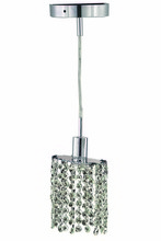 Elegant 1281D-R-E-CL/SS - 1281 Mini Collection Pendant D:4.5in H:4.5in Lt:1 Chrome Finish (Swarovski� Elements Crystals)