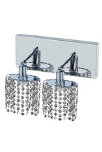 Elegant 1282W-O-E-CL/SS - 1282 Mini Collection Wall Sconce L:8in W:4.5in H:13.5in E:6in Lt:2 Chrome Finish (Swarovski� Element