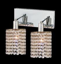 Elegant 1282W-O-R-CL/SA - 1282 Mini Collection Wall Sconce L:8in W:4.5in H:13.5in E:6in Lt:2 Chrome Finish (Spectra� Swarovski