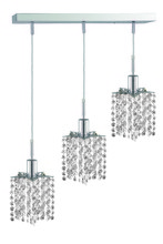 Elegant 1283D-O-P-CL/SS - 1283 Mini Colloection Pendant L:4.5 in W:14.5in H:4.5in Lt:3 Chrome Finish (Swarovski� Elements Crys