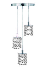 Elegant 1283D-R-S-CL/SA - 1283 Mini Collection Pendant D:9in H:4.5in Lt:3 Chrome Finish (Spectra� Swarovski� Crystals)