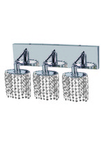 Elegant 1283W-O-E-CL/RC - 1283 Mini Collection Wall Fixture Oblong Canopy D14.5inx4.5in  H13.5in Ellipse Pendant  Lt:3 Chrome