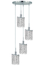 Elegant 1284D-R-E-CL/SS - 1284 Mini Collection Pendant D:9.5in H:4.5in Lt:4 Chrome Finish (Swarovski� Elements Crystals)