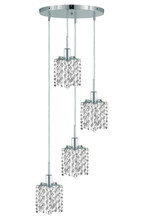 Elegant 1284D-R-P-CL/SS - 1284 Mini Collection Pendant D:9.5in H:4.5in Lt:4 Chrome Finish (Swarovski� Elements Crystals)