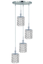 Elegant 1284D-R-S-CL/SA - 1284 Mini Collection Pendant D:9.5in H:4.5in Lt:4 Chrome Finish (Spectra� Swarovski� Crystals)