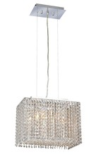 Elegant 1291D14C-CL/RC - 1291 Moda Colloection Chandelier L:14 in W:9.5in H:11in Lt:2 Chrome Finish (Royal Cut Crystals)