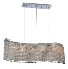 Elegant 1296D46C-CL/RC - 1296 Moda Colloection Chandelier L:46 in W:9in H:11in Lt:6 Chrome Finish (Royal Cut Crystals)