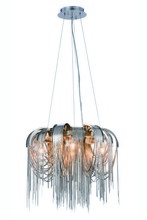 Elegant 1505D18C - 1505 Blythe Collection Pendant D:18in H:12in Lt:4 Chrome Finish