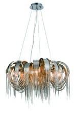 Elegant 1505D26C - 1505 Blythe Collection Chandelier D:25.5in H:12in Lt:5 Chrome Finish