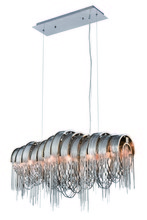 Elegant 1505D28C - 1505 Blythe Collection Chandelier L:28in W:10in H:14.5in Lt:5 Chrome Finish