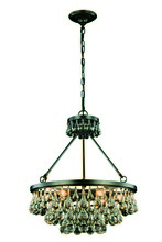 Elegant 1509D22BZ - 1509 Bettina Collection Pendant D:22in H:22in Lt:6 Bronze Finish (Royal Cut Crystals)
