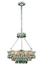 Elegant 1509D22SL - 1509 Bettina Collection Pendant D:22in H:22in Lt:6 Silver Leaf Finish (Royal Cut Crystals)