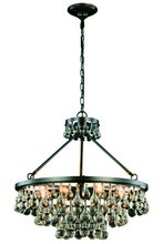 Elegant 1509D26BZ - 1509 Bettina Collection Pendant D:26in H:24in Lt:8 Bronze Finish (Royal Cut Crystals)