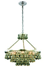 Elegant 1509D26PN - 1509 Bettina Collection Pendant D:26in H:24in Lt:8 Polished Nickel Finish (Royal Cut Crystals)