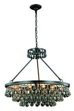 Elegant 1509D32BZ - 1509 Bettina Collection Pendant D:32in H:30in Lt:10 Bronze Finish (Royal Cut Crystals)