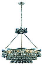 Elegant 1509D32PN - 1509 Bettina Collection Pendant D:32in H:30in Lt:10 Polished Nickel Finish (Royal Cut Crystals)