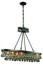 Elegant 1509G44BZ - 1509 Bettina Colloection Pendant L:44 in W:13in H:31in Lt:8 Bronze Finish (Royal Cut Crystals)
