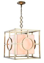 Elegant 1513D22BB - 1513 Quatro Collection Pendant L:22in W:22in H:24.5in Lt:2 Burnished Brass Finish