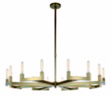 Elegant 1535G60BB - 1535 Corsica Collection Chandelier D:60in H:11in Lt:16 Burnished Brass Finish