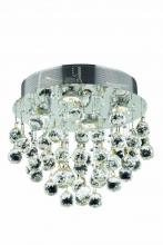 Elegant 2006F14C/SS - 2006 Galaxy Collection Flush Mount H14in D14in Lt:4 Chrome Finish (Swarovski Elements Crystals)