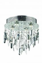 Elegant 2006F14SC/SA - 2006 Galaxy Collection Flush Mount Prism Drops H14in D14in Lt:4 Chrome Finish (Swarovski Spectra Cry