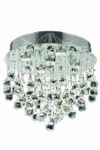 Elegant 2006F16C/RC - 2006 Galaxy Collection Flush Mount H16in D16in Lt:5 Chrome Finish (Royal Cut Crystals)