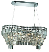 Elegant 2019D32C/SS - 2019 Maxime Colloection Chandelier L:32 in W:16in H:13in Lt:14 Chrome Finish (Swarovski� Elements Cr
