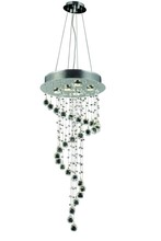 Elegant 2028G36C/RC - 2028 Galaxy Collection Chandelier D:16in H:36in Lt:5 Chrome Finish (Royal Cut Crystals)