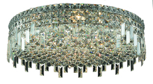 Elegant 2031F24C/RC - 2031 Maxime Collection Flush Mount D24in H5.5in Lt:9 Chrome Finish (Royal Cut Crystals)