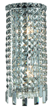 Elegant 2031W8C/RC - 2031 Maxime Collection Wall Sconce W8in H16in E4in Lt:2 Chrome Finish (Royal Cut Crystals)