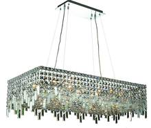 Elegant V2035D36C/RC - 2035 Maxime Colloection Chandelier L:36 in W:18in H:10.5in Lt:16 Chrome Finish (Royal Cut Crystals)