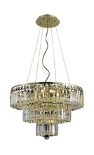 Elegant 2036D20G/SA - 2036 Maxime Collection Chandelier D:20in H:16in Lt:9 Gold Finish (Spectra� Swarovski� Crystals)