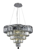 Elegant 2036D26C/EC - 2036 Maxime Collection Chandelier D:26in H:20in Lt:14 Chrome Finish (Elegant Cut Crystals)