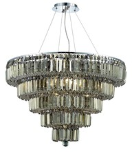 Elegant 2036D30C-GT/RC - 2036 Maxime Collection Chandelier D:30in H:22in Lt:17 Chrome Finish (Royal Cut Crystals)